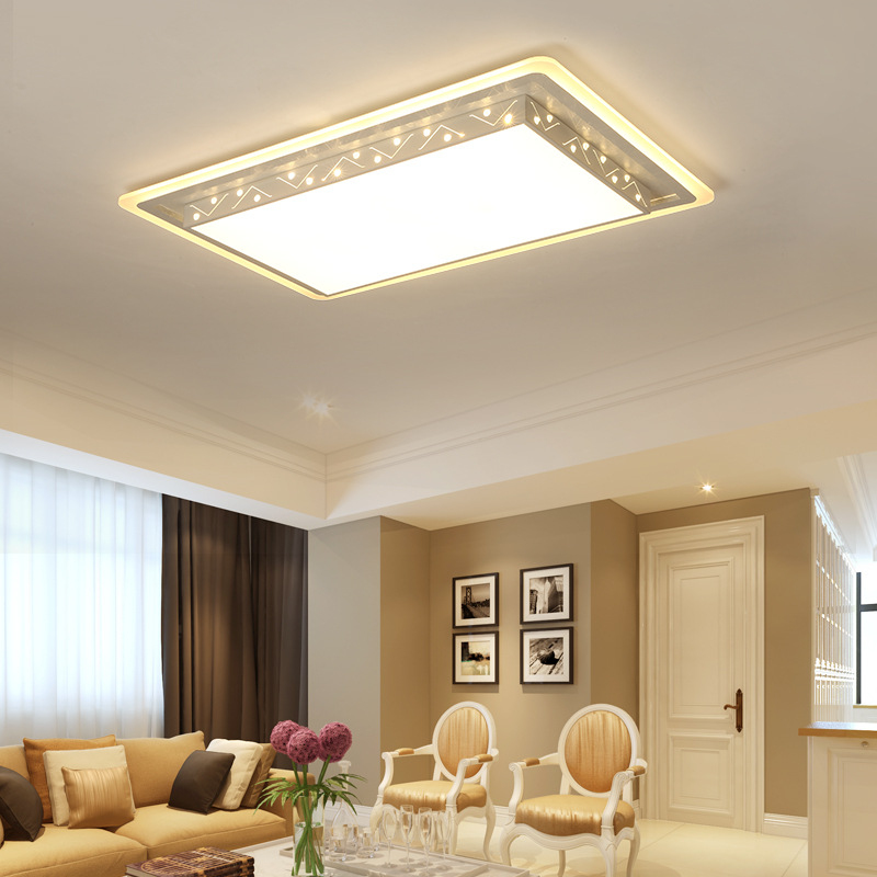 modern square fashion simple remote control LED ceiling lamp indoor light 48w 72w for bedroom study dining room foyer hotel etc metal iron art led ceiling panel light dimmable 12w 36w 48w 72w 108w 960 9720lm indoor lamp square for living room bedroom