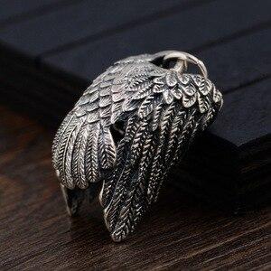 Image 4 - BALMORA 925 Sterling Silber Eagle Charm Anhänger für Frauen Männer Paar Geschenk Punk Coole Vintage Mode Schmuck Ohne Kette