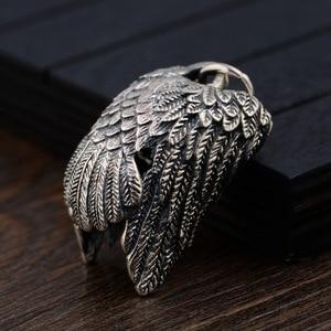 Image 4 - BALMORA 925 סטרלינג כסף נשר קסם תליוני עבור נשים גברים זוג מתנת פאנק מגניב בציר תכשיטים ללא שרשרת