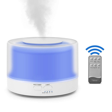 500ml Ultrasonic Humidifier Remote Control 7 Colors LED Light Mute Essential Oil Diffuser Aromatherapy Room Bar Aroma Humidifier цена и фото