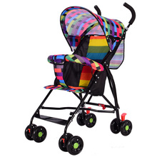 Baby Stroller Portable Folding Trolley Baby Four-wheeled Trolley Simple Umbrella Trolley Portable Trolley stair climbing sack trolley unique wheel designed with carbon steel material 6 wheeled stair climbing folding hand trolley