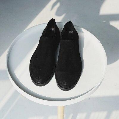 Homens Couro As Respirável Slip Mens as Casuais Inverno Sapatos Fosco De Shown on Para Outono Shown Pretos qT78OF