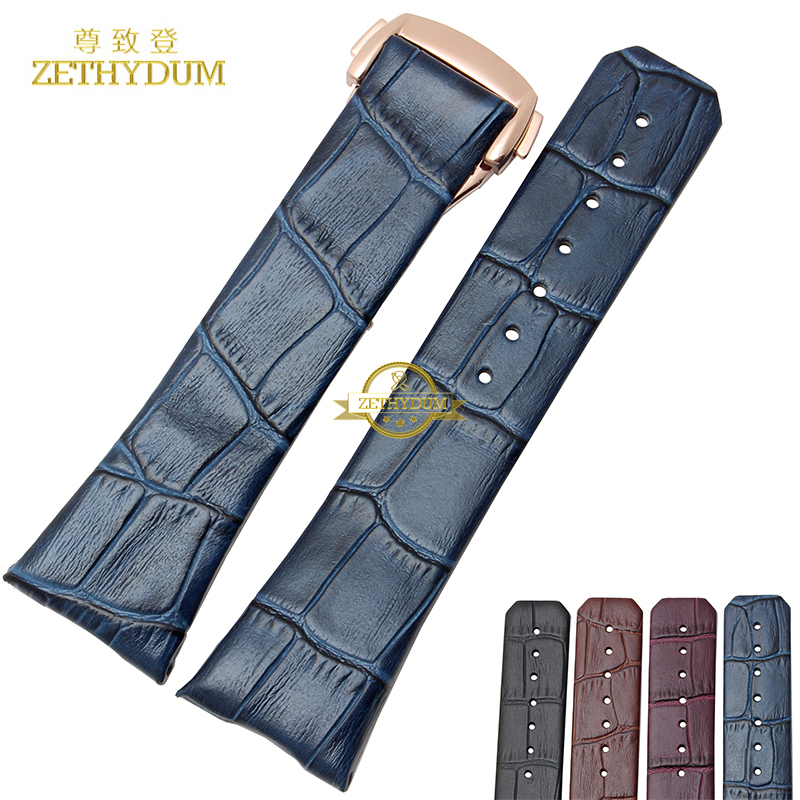 genuine leather watch strap wrist watch band Watchband 23mm Men Watchs bracelet fold buckle wristwatches band accessories high quality genuine leather watchband 22mm brown black wrist watch band strap wristwatches stitched belt folding clasp men
