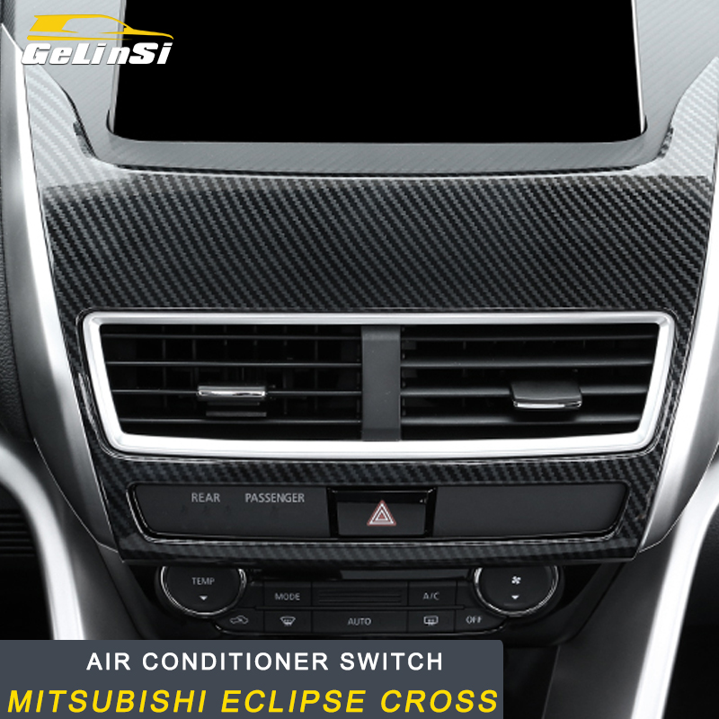Gelinsi For Mitsubishi Eclipse Cross 2018 Air conditioner switch frame central control trim Sticker Covers Accessories  Auto Car|Car Stickers| |  - title=
