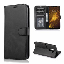 For Xiaomi Pocophone F1 Case Cover High Quality Flip Leather Cases Stand PU