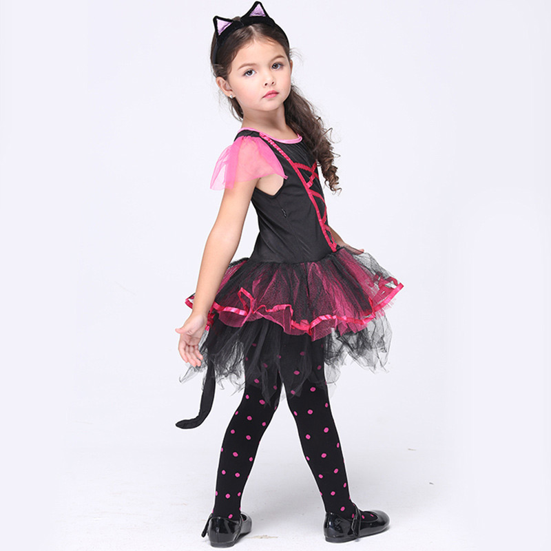 Halloween Cosplay Baby Clothing Dress 6pcs Ballet dance dress Children Set Autumn short Sleeve Infant Girls Clothes For Party baby girl 1st birthday outfits short sleeve infant clothing sets lace romper dress headband shoe toddler tutu set baby s clothes