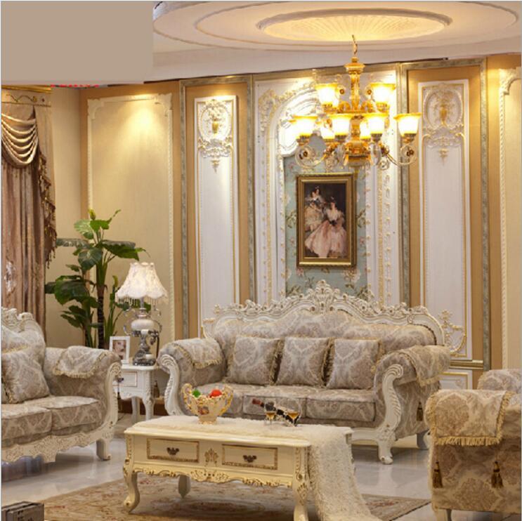 Living Room Furniture Modern Fabric Sofa European Sectional Sofa Set O1118