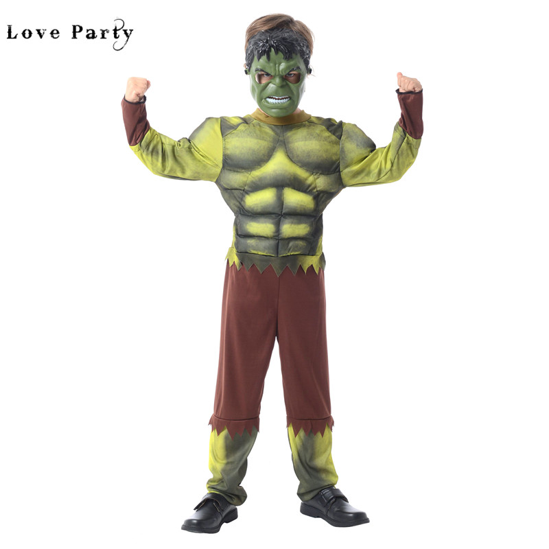 cosplay kids muscle christmas superman halloween party costume for children boys kids fantasy movie incredible hulk jumpsuits in boys costumes from novelty