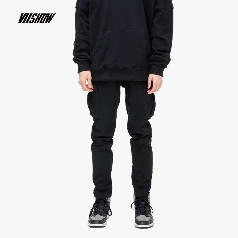 2019 NEW Fashion Stitching Pocket T shirt Casual Loose Short sleeved Tees Men s Hip Hop