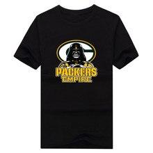 2017 New 100% Cotton packers Empire T-shirt Star Wars Darth Vader greeb bay T Shirt 0106-2