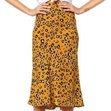 Falda Verano Mujer, юбка размера плюс, Женская юбка с леопардовым принтом, винтажная Длинная женская Повседневная плиссированная юбка с высокой талией, Z4