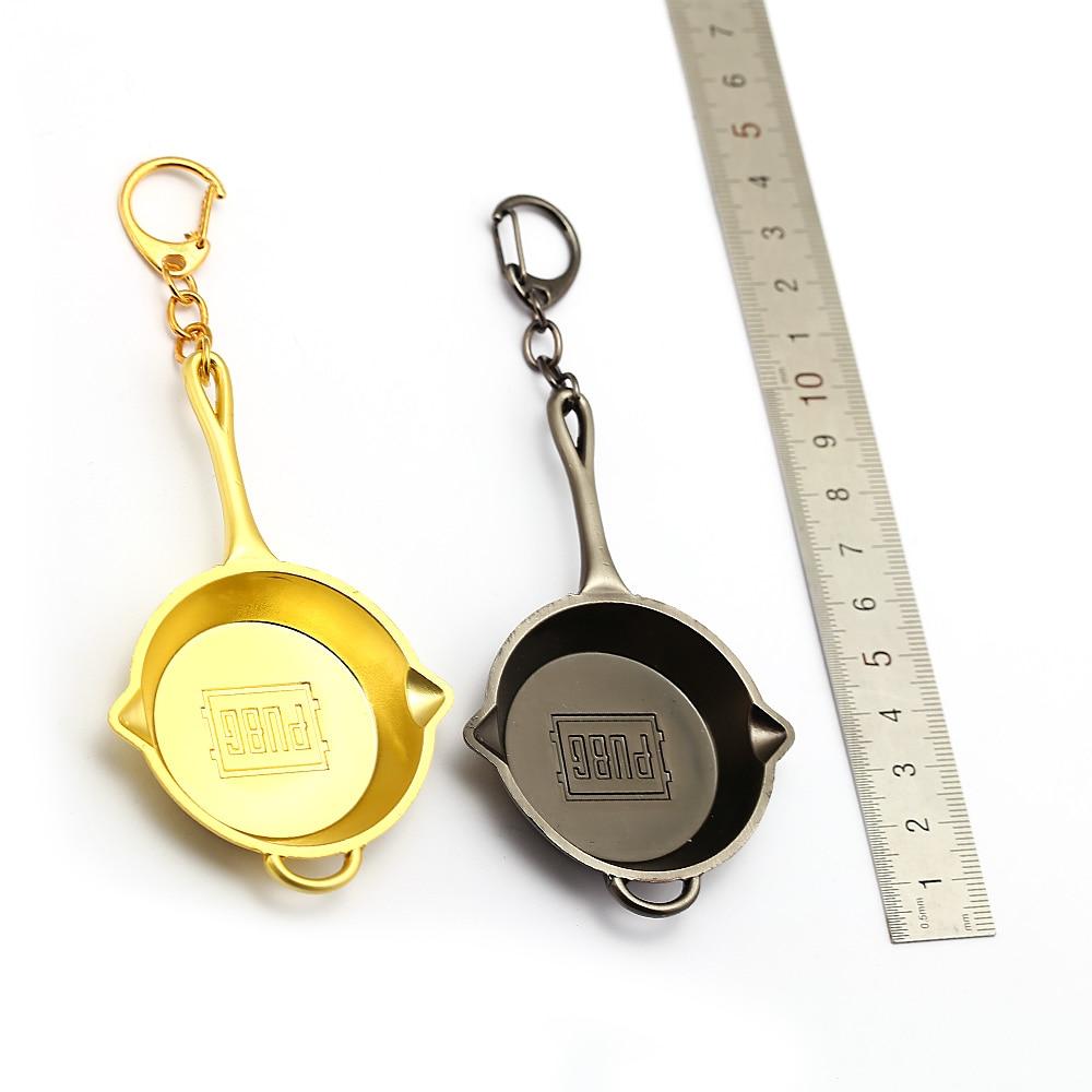 HSIC 10pcs/lot Wholesale PUBG Jewelry Keychain Playerunknowns Battlegrounds Invitational Key Ring Pans Chaveiro Men HC12762