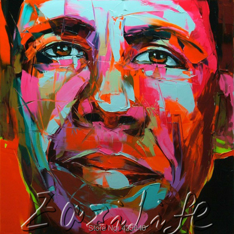 Palette knife portrait Face Oil painting christmas figure canva Hand painted Francoise Nielly wall Art picture21Palette knife portrait Face Oil painting christmas figure canva Hand painted Francoise Nielly wall Art picture21