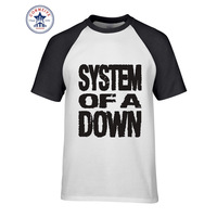 2017 Newest Fashion Funny SYSTEM OF A DOWN Logo Cotton T Shirt For Men