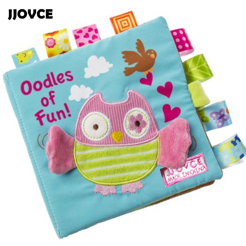 JJOVCE New Free Ship1 Pcs Baby Soft Toys Animal Embroidered Cloth Book Newborn Early Development Activity Books Baby Kids Gifts new stereo flowers baby toys hot new infant kids early development cloth books learning education toys creative gifts books