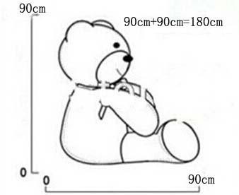 180CM Giant teddy bear უზარმაზარი დიდი - პლუშები სათამაშოები - ფოტო 6