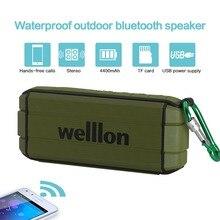Welllon BT 4.2 Altavoz Bluetooth Resistente Al Agua IPX6 Resistente Al Aire Libre Altavoz Portátil Inalámbrico con Graves Mejorados Duales 5 W Conductores