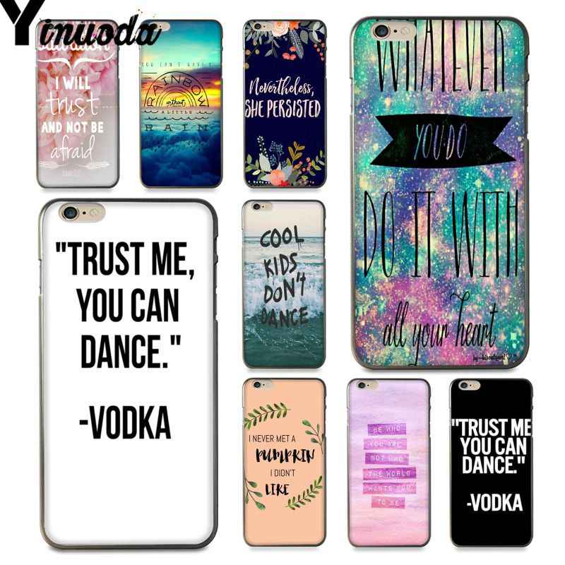 Yinuoda For iphone 7 6 X Case Trust Me You Can Dance Vodka Best Coque Phone Case for iPhone 6S 7 8 Plus 5S XS XR XSMAX