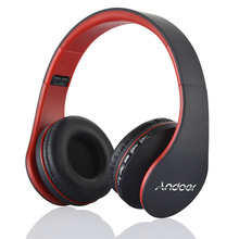 Digital 4 in 1 Stereo Andoer A2DP Bluetooth Headphones Wireless Headset Earphones TF Card MP3 Player FM Radio with Micphone