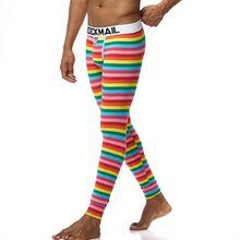 New Men long johns cotton thermal underwear pants 21 colors Male Underpants Outdoors Modal Leggings Pants Solid stripe print