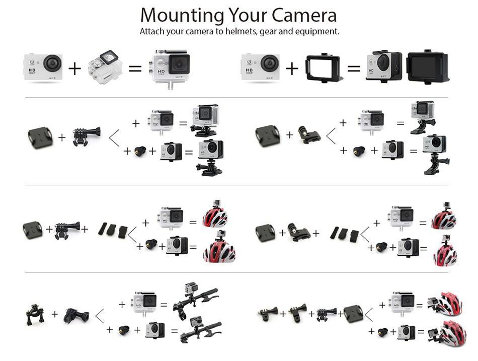 ถูก จัดส่งฟรีH8RการกระทำWIFI 360 VRบันทึกวิดีโอ16MP 30FPS 1080จุดHDกันน้ำกีฬาDVกับ2.4กรัมระยะไกลเข้ามาใหม่