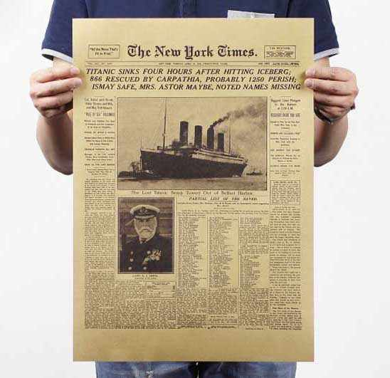 Movie Retro New York Poster Adornment Vintage Anime Posters Prints Living Room Decorative Painting Core Kraft Paper Wall Sticker