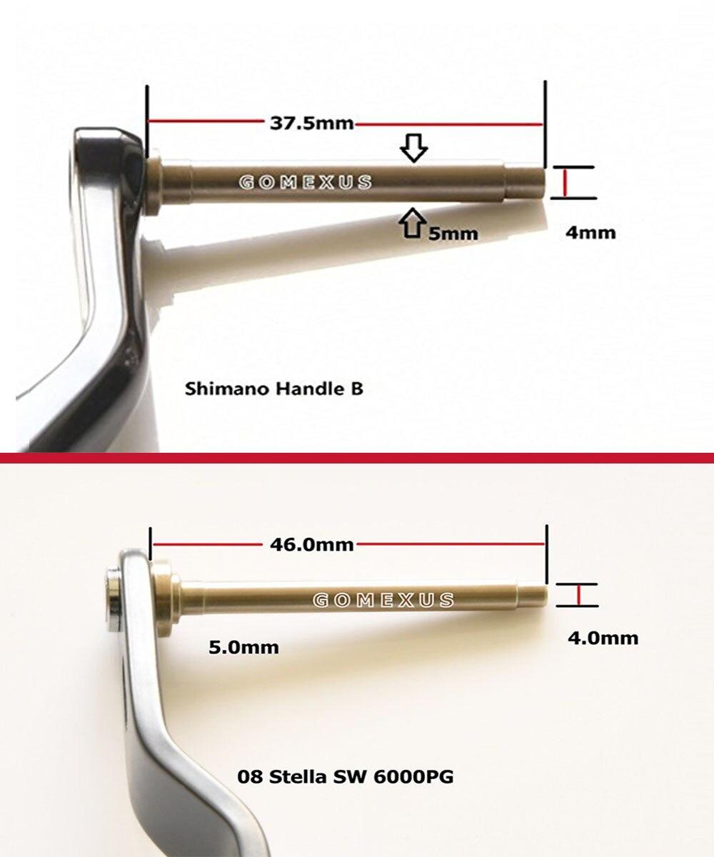 Gomexus Angelrolle Kurbelknauf für Stradic FK Saragosa SW 5000 6000 45mm Direkt