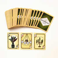 1 PCS HENDRICK'S GIN Poker Card Classical Playing Cards Black Core Paper Cards Entertainment Drinking Game