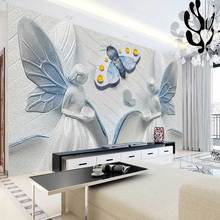 3D  Wallpaper  Stereoscopic Embossed People butterfly