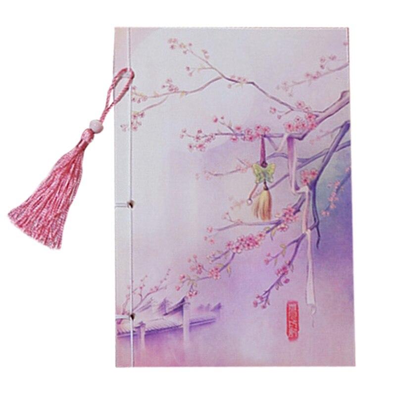 Ручной работы 208x104 мм китайский стиль кисточкой блокнот старинные дневник ЦВЕТ СТРАНИЦА классический ноутбук канцелярские подарок 16 Тип