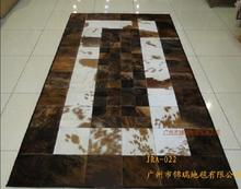 free Beauty 100% natural genuine cow leather customized alfombras