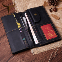 COWATHER 100% high quality Crazy horse leather men wallets top cow genuine leather wallet for men male purse Q2036 free shipping