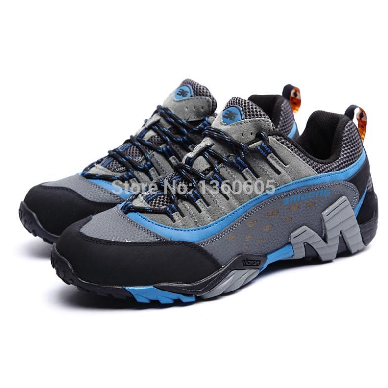 Hommes chaussures de randonnée en plein air imperméable respirant chasse chaussures de trekking marque en cuir véritable sport escalade chaussures de randonnée baskets - 4