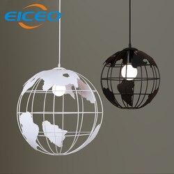 (EICEO) żyrandol Cafe krajem ameryki kutego żelaza sypialnia Globe wiszące lampy LED lampa wahadłowa