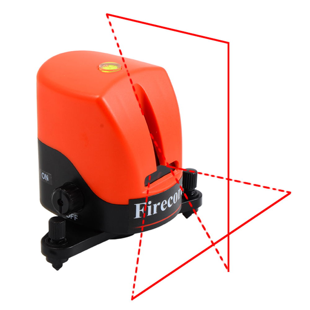 Firecore YD-810 2 Lines Laser Level Self-leveling(3 degrees) Horizontal And Vertical Cross Red Line Levels Measuring Tool cross line laser the tool measuring laser leveler 5 lines 1 point 4v1h laser level