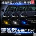 Высокое качество СВЕТОДИОДНЫЕ Дневные Ходовые Огни DRL 100% Водонепроницаемый противотуманная фара, пригодный для Ford Mondeo Fusion 2013 ~ 2015 год