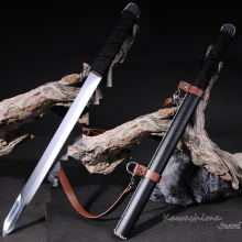 Hunting Knife Tactical Sword 1060High Steel Double edgeds Scabbard with Strap Razor Sharp Letter opener