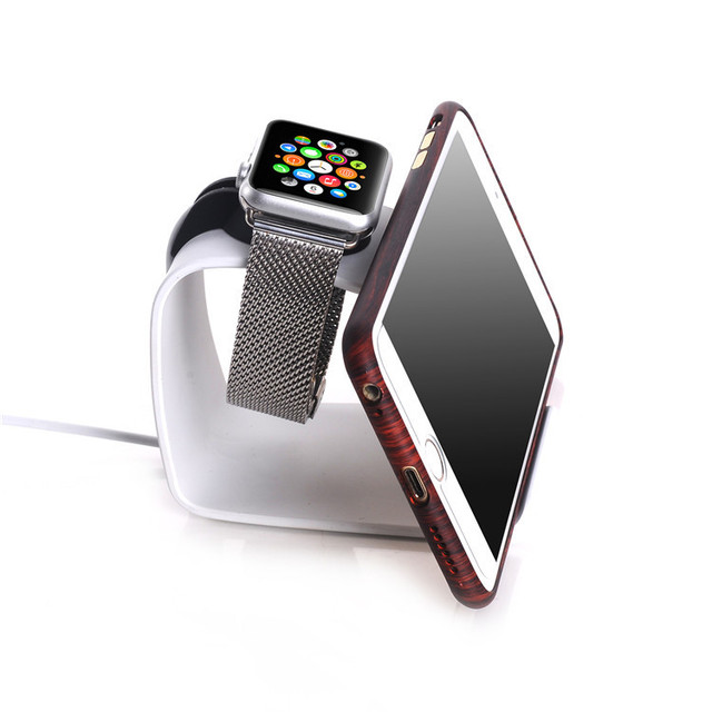 URVOI new arrival holder for apple watch stand holder keeper aluminium alloy charging dock 2 in 1 repair smart holder IH12