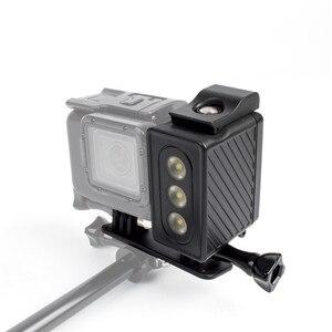 Image 3 - JINSERTA sous marine 30 m plongée lumière LED étanche lampe de lumière vidéo pour Gopro Hero 6 5 noir 4 3 + 3 SJ7000 XiaoYi 300LM lumière