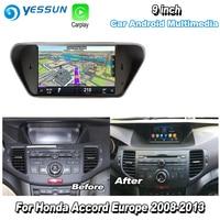 YESSUN For Honda For Accord 8 Europe 2008 2013 Car Android Carplay GPS Navi maps Navigation Player Radio Multimedia HD no CD DVD