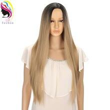 Feibin синтетические парики для женщин прямой парик Омбре Косплей