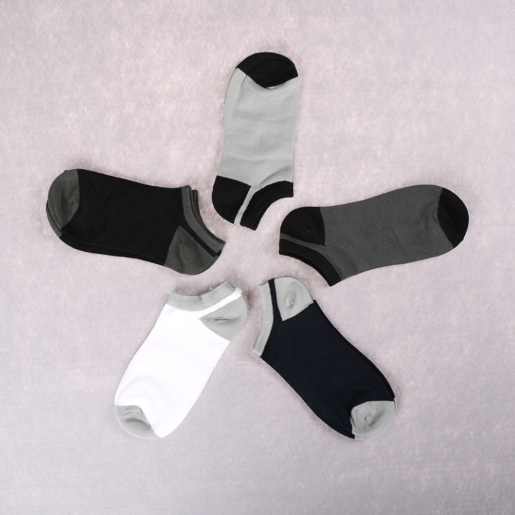 Summer Socks Men Fashion Bamboo Shallow Mouth Men Socks Casual All-Match Man Socks 1 Pair
