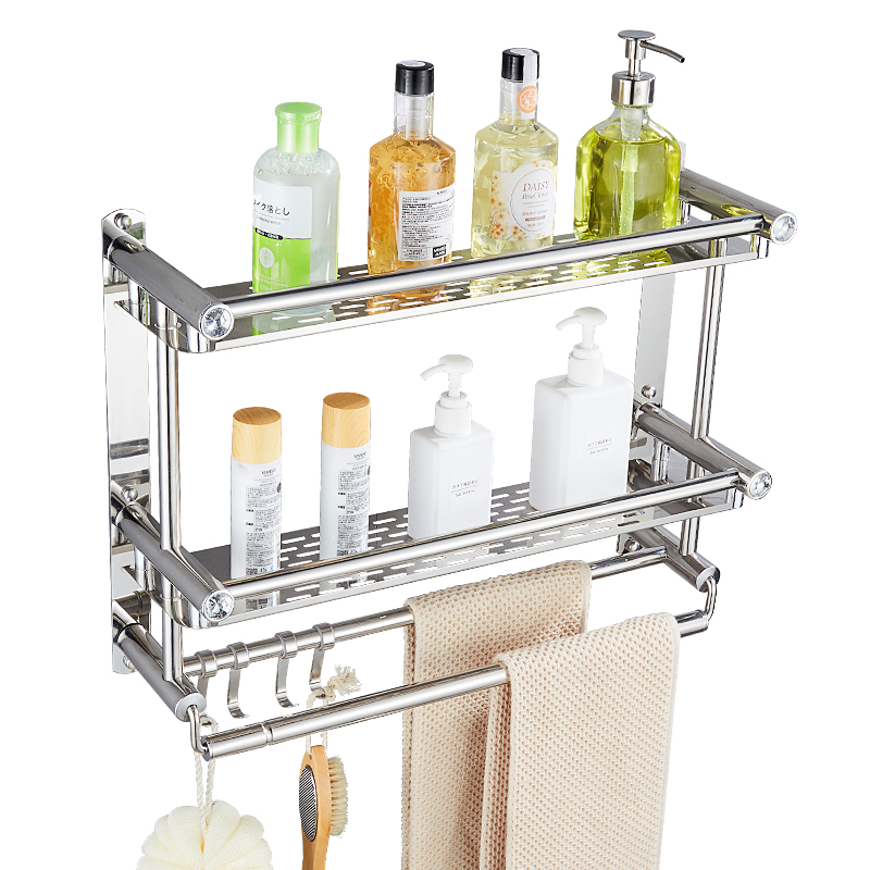 Bathroom 304 stainless steel shelf wall hanging type three - Bathroom shelves stainless steel ...