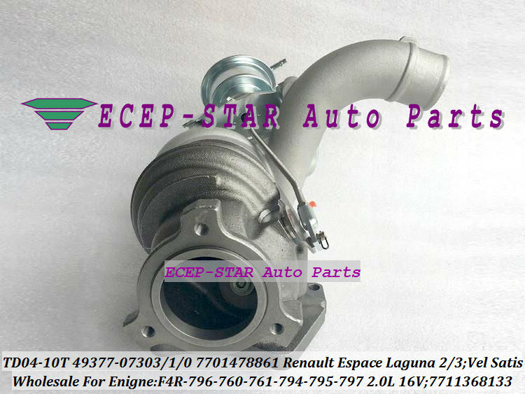 TD04-10T-8.5 49377-07303 49377-07301 49377-07300 7701478861 7711368133 Turbo For Renault Espace Laguna 2 3 Vel Satis 2001- F4R 796 2.0L 16V (3)