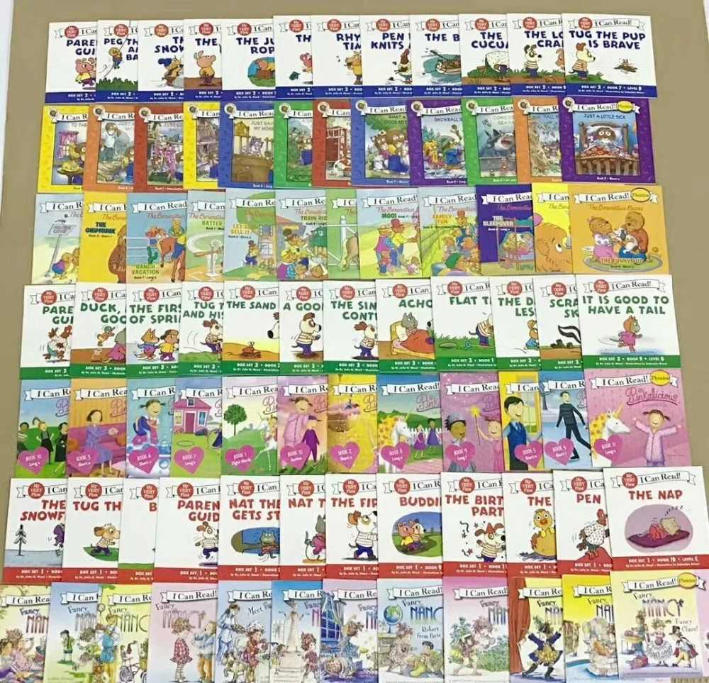 84 books 7 sets I Can Read series Phonics natural spelling picture English Book Children kids pocket story book Age 0-6