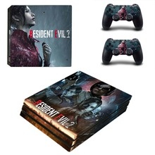 Resident Evil 2 Remake PS4 Pro Skin Sticker For Sony PlayStation 4 Pro Console and Controllers PS4 Pro Stickers Decal