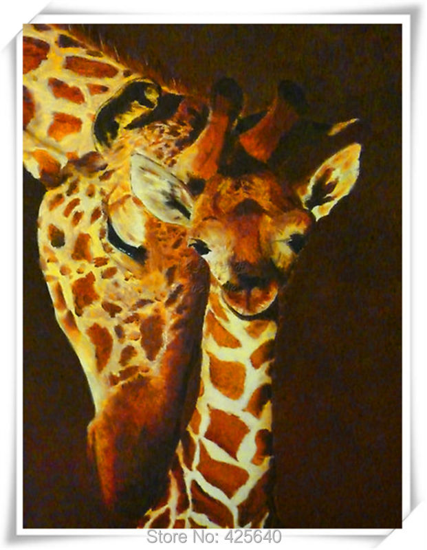 Giraffe Art  24X36 inches Painting Home Decoration Oil painting Wall Pictures for living room Home Decor paints Wall art paint 6Giraffe Art  24X36 inches Painting Home Decoration Oil painting Wall Pictures for living room Home Decor paints Wall art paint 6