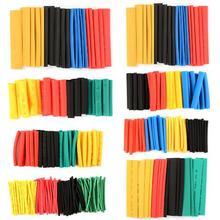 328 шт 8 размеров многоцветные полиолефиновые 2:1 БЕЗГАЛОГЕННЫЕ Термоусадочные трубки ассортимент оплетки трубки
