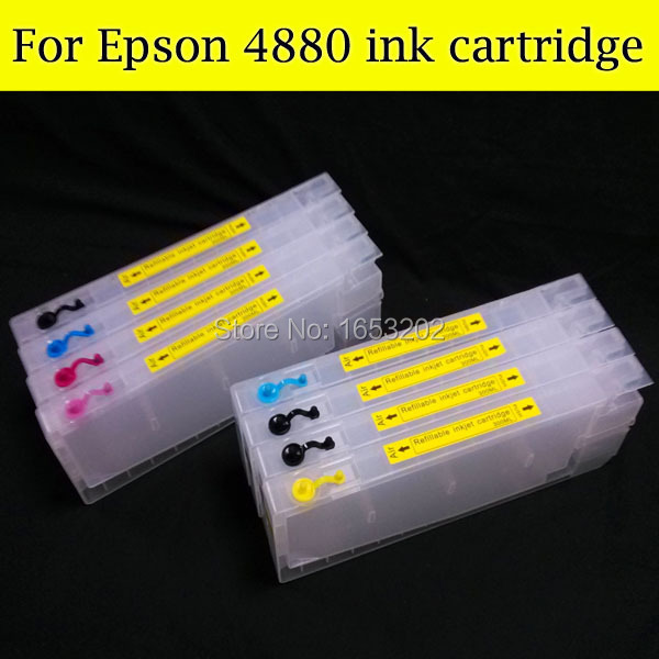 все цены на 300ML Empty Ink Cartridge For Epson Stylus Pro 4880+ Chip Resetter For Epson 4880 онлайн