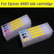 300 МЛ Пустой Картридж Для Epson Stylus Pro 4880 + Чип Укрыватель Для Epson 4880